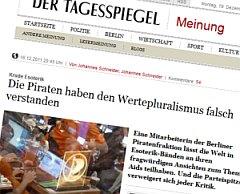 Artikel beim Tagesspiegel zum Piraten-Esogate