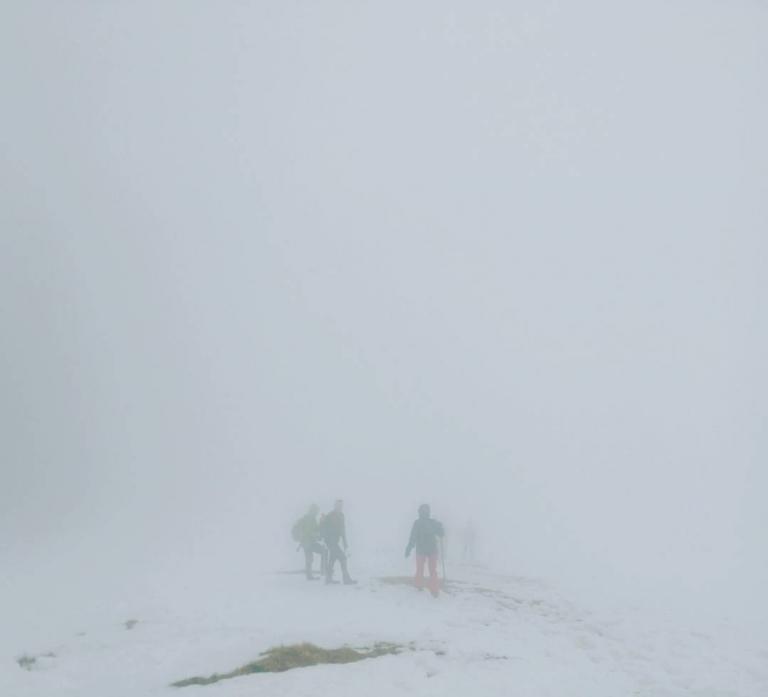 Dann heute halt mal mit weniger Fernsicht. #brecherspitze #bayern #schnee